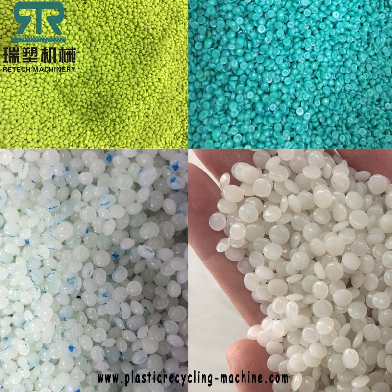 PE polyethylene (HDPE,LDPE, LLDPE) PP polypropylene flexible packaging material one-step plastic recycling pelletizing machine plant