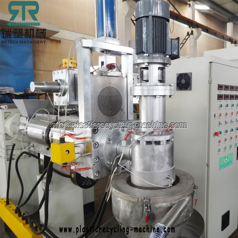Plastic LDPE LLDPE PP Film Force Feeder Pelletizing Recycling Machine Plant
