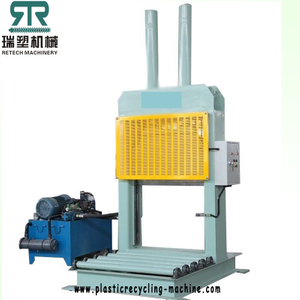 Automatic Plastic baled roll PE LDPE film/rubber hydraulic guillotine cutter machine
