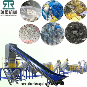 500KG/H PE PP Film Bag Washing recycling machine